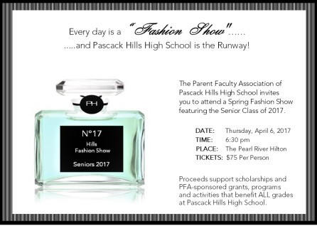 PHHS Fashion Show Invitation Single 042017